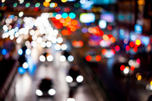 Abstract Blur Of Traffic Jam I...