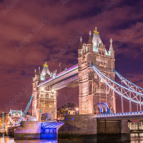 Keuken foto achterwand San Francisco Tower Bridge, Londres, en HDR