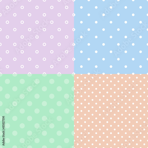 Wall mural - Colorful polka dot seamless pattern
