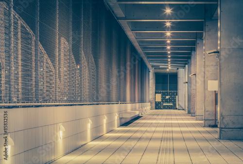 Fotografie, Tablou  Perspective of corridor in the modern office building