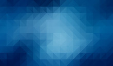 Abstract 2D Geometric Blue Background