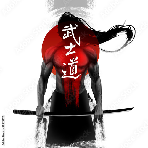 Samurai 1 Bushido - Japanese word for the way of the samurai life Wallpaper Mural