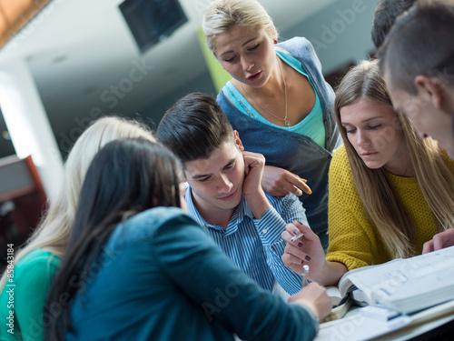 Fototapety, obrazy: students group  study