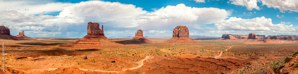 Fototapety, obrazy: Monument Valley - Panorama View
