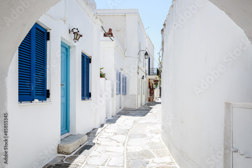 Lefkes village, Paros, Greece Canvas Print