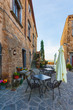Beautiful corners and streets of the medieval small town in Lazio, italy