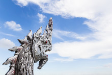 King Of Nagas Statue ,Thai Dragon