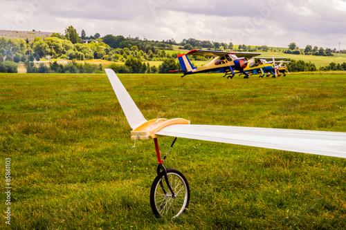 Stützrad Segelflieger
