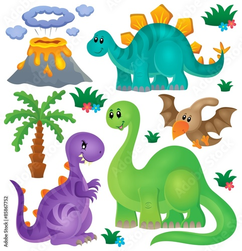 Dinosaur theme set 1 Poster