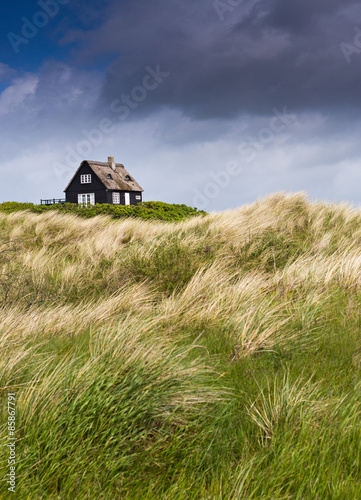 Keuken foto achterwand Noordzee Sturm zieht an der Küste auf