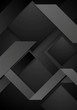 Black abstract corporate geometric background