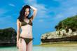 ビーチの水着女性