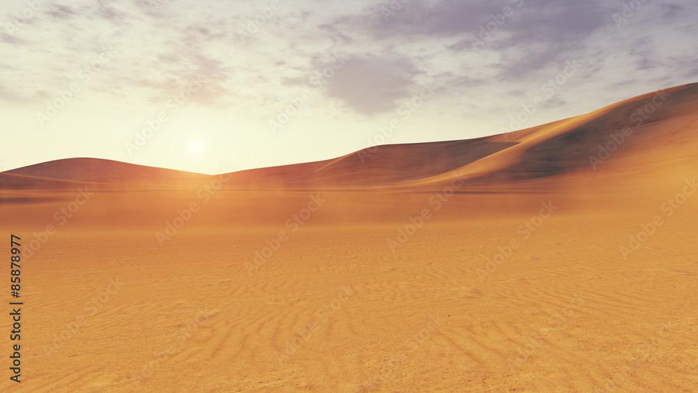 Desert sunset or surise