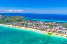 Aerial View Of Boracay Island,...