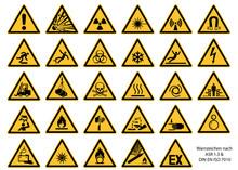 Warnzeichen Nach DIN EN ISO 70...