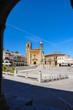 Trujillo, Spain, view of the Main Square and Pizarro's equestrian statue