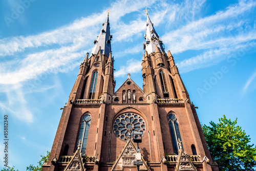 Tuinposter Monument Saint Catharine Church in Eindhoven. Netherlands
