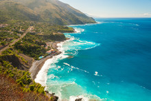 Aerial View Of The Coastline Near Maratea (southern Italy)