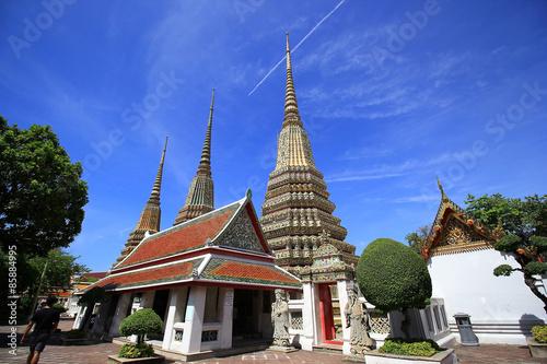 Photo  Temple in Bangkok. Wat Pho, Thailand.
