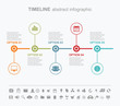 Info graphic and timeline design elements. Presentation abstract vector page