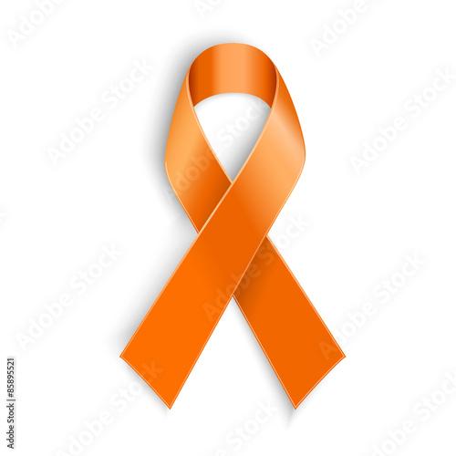 Obraz orange ribbon on white background. - fototapety do salonu