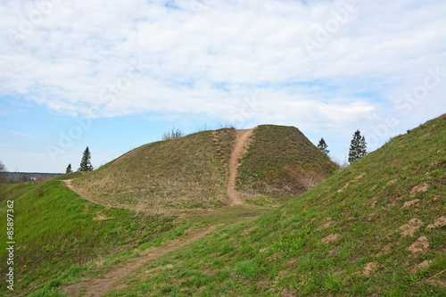 Fotografie, Obraz  Burial mound- the place, as a legend says, where is the Prophetic Oleg funeral