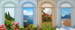 Collage Vier Jahreszeiten 7 - mediterrane Landschaft, Achenseebl