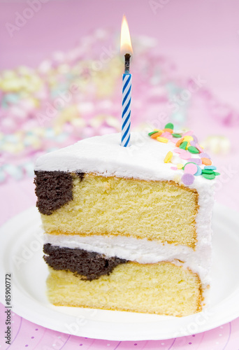 Super Pink Birthday Cake A Slice Of Marble Chocolate And Yellow Personalised Birthday Cards Akebfashionlily Jamesorg