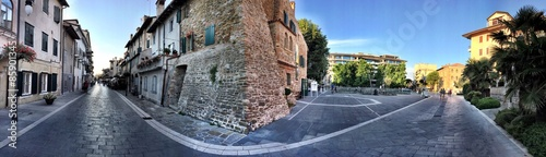 Foto op Canvas Stad aan het water Suggestive panorama in Grado Beach - Italy