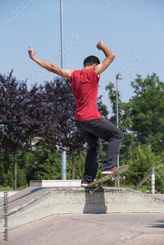 Fotografie, Obraz  Skateboarder