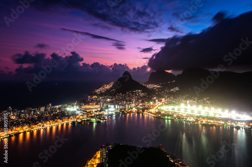 Spectacular Aerial View of Rio de Janeiro by Sunset Poster