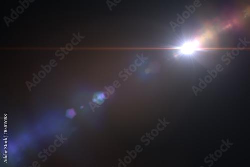 Canvas Print Lens flare effect