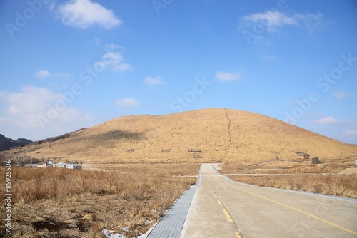 Photo  View of SaeByeol Volcanic Cone in Jeju Island