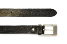 Detail Of Black Colored Old Belt And Buckle