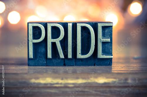 Valokuva  Pride Concept Metal Letterpress Type