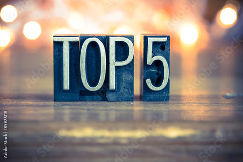 Photographie  Top 5 Concept Metal Letterpress Type