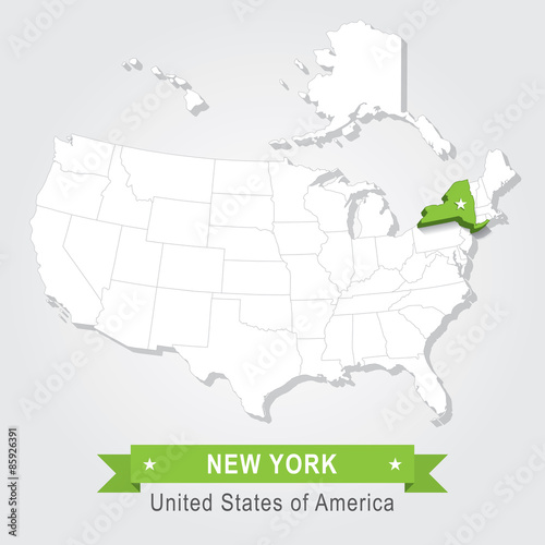 Map Of New York State Usa.New York State Usa Administrative Map Buy This Stock Vector And