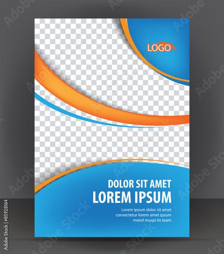 Book Cover Design Application ~ Magazine flyer brochure cover layout design print