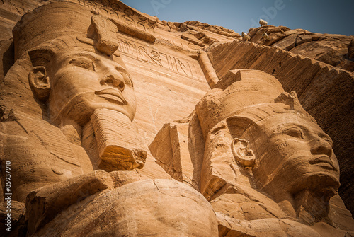 Photo  Abu simbel, 2 pharaons. Egypt