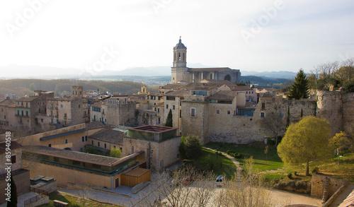 Catedral de Gerona vista desde la muralla.