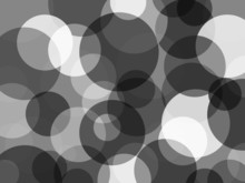 Abstract Black White Circles Background