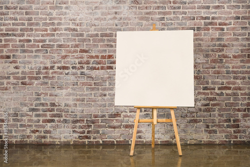 Photo Easel with blank canvas