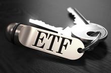 ETF Concept. Keys With Keyring.