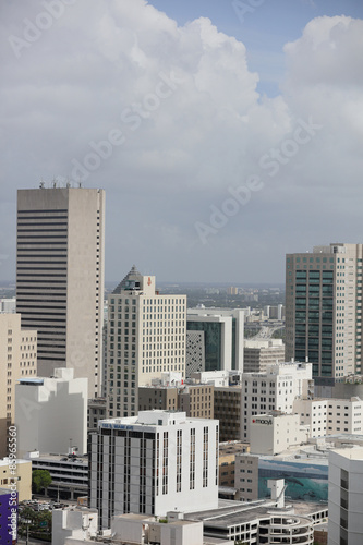 Fototapety, obrazy: Image of Downtown Miami far vertical shot