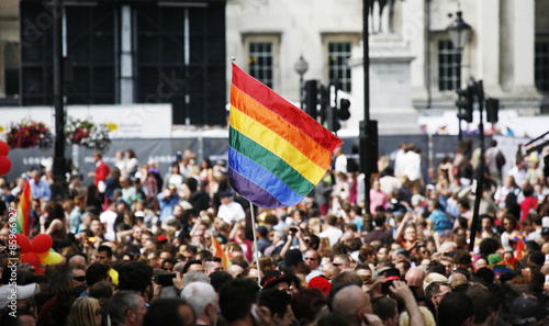 Fotomural  Rainbow flag in London's Gay Pride
