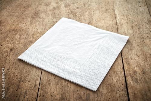 Fotografie, Obraz  white paper napkin