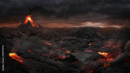 Valokuvatapetti Volcanic landscape