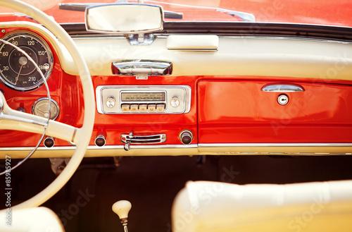 obraz dibond interno auto rocznik