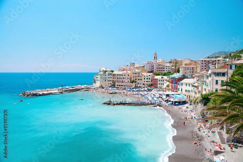 Fototapeta Italy Italian Liguria Genova Bogliasco beach landscape obraz