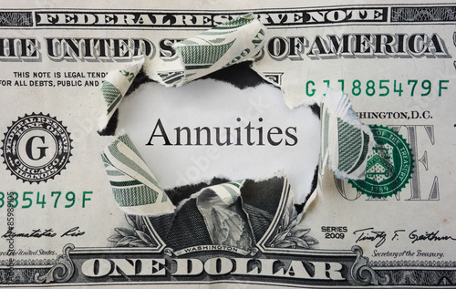 Annuities concept Canvas Print